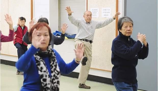 elderly people exercise