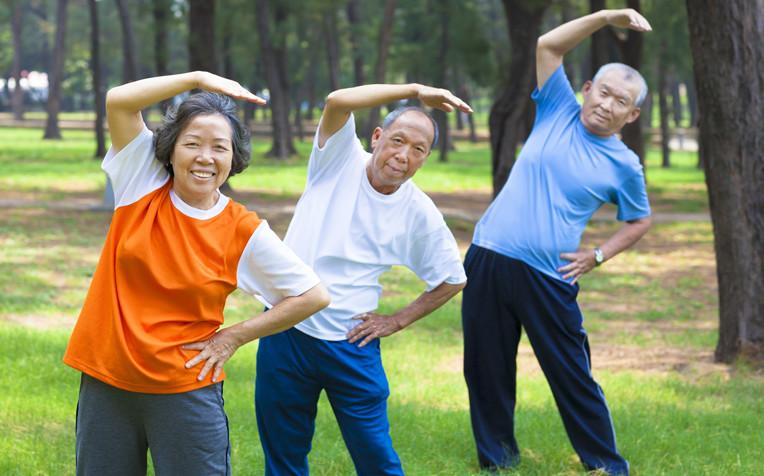 senior citizens exercising