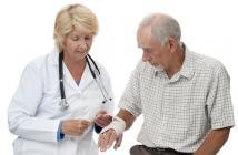 elderly person wrist injury